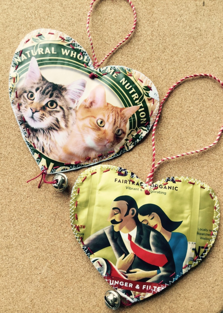 Cat food and coffee pouch Tree Ornaments