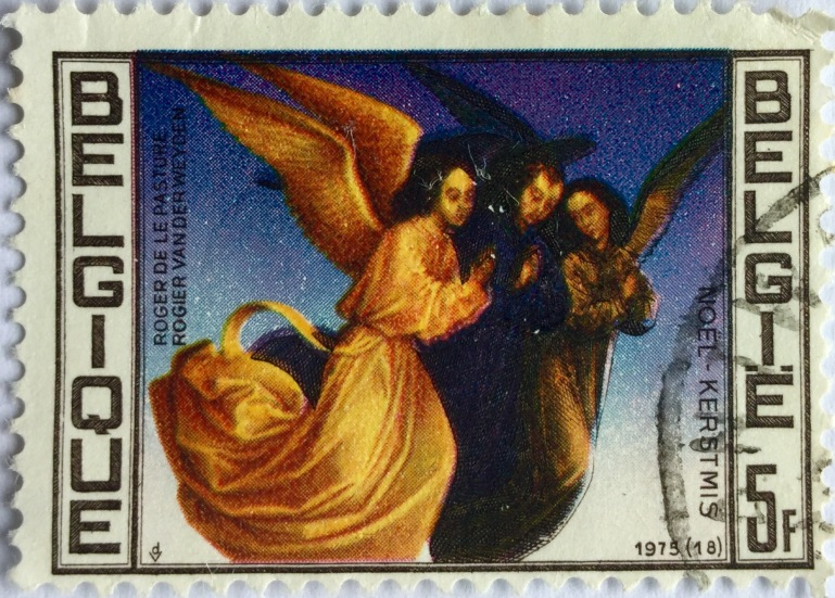 Old Belgian Christmas Stamp