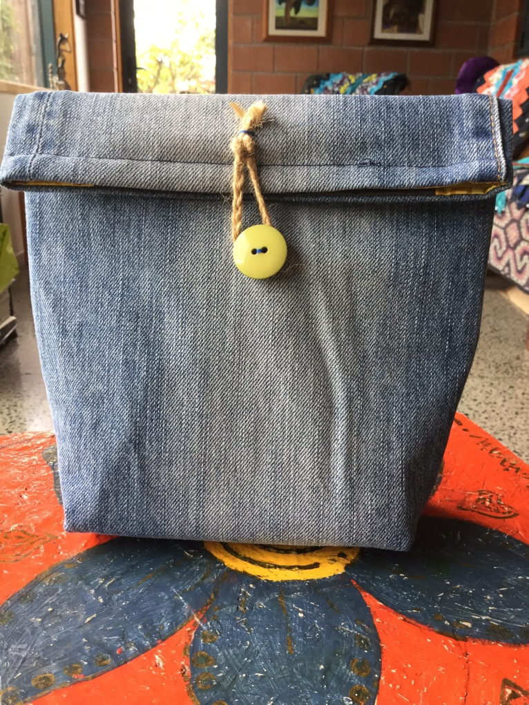 Denim Outside of Lunchbag...