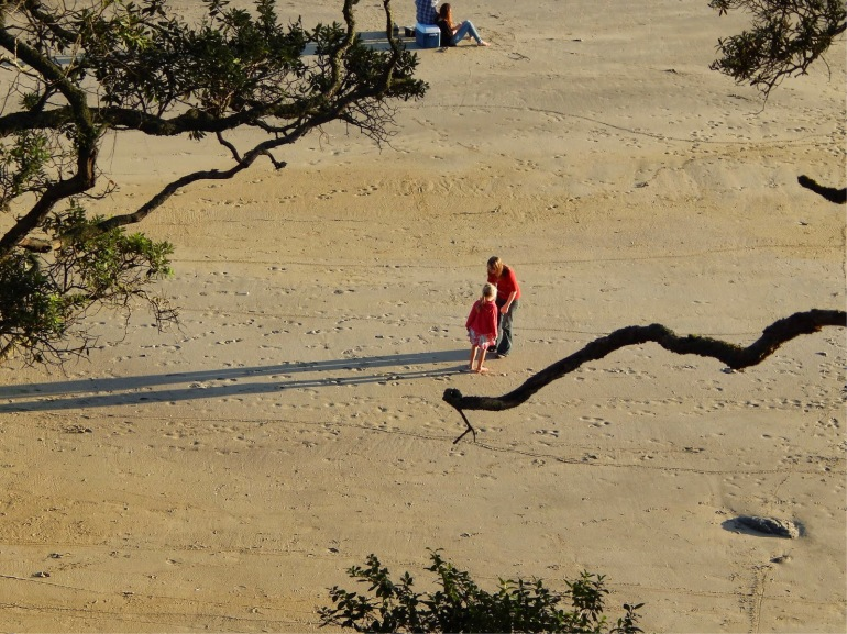 I loved the long shadows on the beach of a mum and daughter